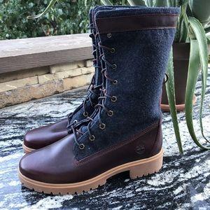 Timberland Jayne Warm Gaiter Boots Fold Down SZ 7